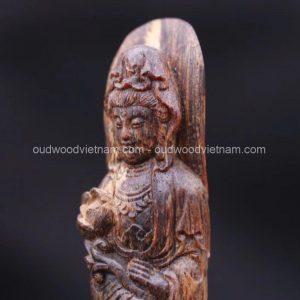 Viet Nam Nha Trang Sinkable Ky Nam, Ki nam, Kyara, Qi nan, Calambac, 沉香木奇楠 - Guan Yin Buddha 1