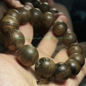 Vietnam agarwood Beaded Bracelet – Natural agarwood mala Beads Bracelet – agarwood Meditation mala Beads – aloeswood Beads Bracelet – Tibetan mala Prayer Beads - agarwood Prayer Beads 1