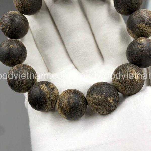 Vietnam agarwood Beaded Bracelet – Natural agarwood mala Beads Bracelet – Agarwood Meditation mala Beads – aloeswood Beads Bracelet – Tibetan mala Prayer Beads - agarwood Prayer Beads - Sinkable agarwood 1