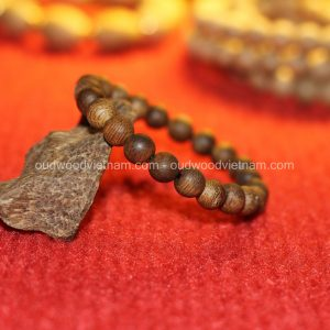 Vietnam agarwood Beaded Bracelet – Natural agarwood mala Beads Bracelet – Agarwood Meditation mala Beads – aloeswood Beads Bracelet – Tibetan mala Prayer Beads - agarwood Prayer Beads 12