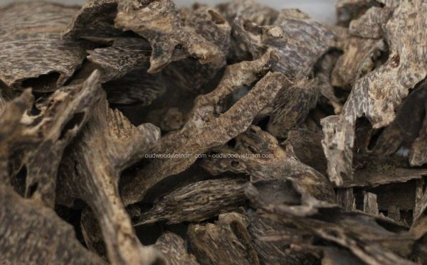 Agarwood Chips Oud Chips Incense Aroma | Natural Wild and Rare Agarwood Chips from Oudwood Vietnam | Pure Material Grade A++ (Kien Rung)