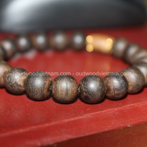Vietnam agarwood Beaded Bracelet – Natural agarwood mala Beads Bracelet – Agarwood Meditation mala Beads – aloeswood Beads Bracelet – Tibetan mala Prayer Beads - agarwood Prayer beads 23