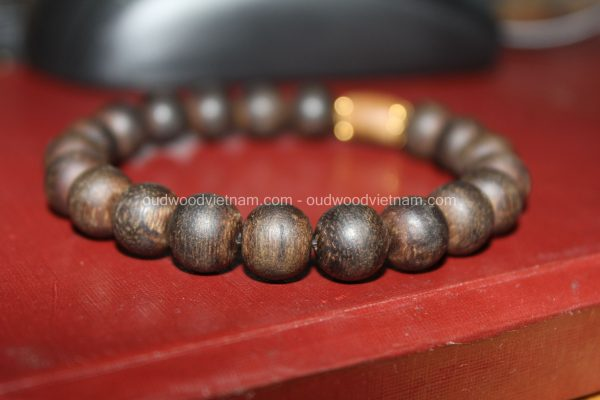 Vietnam agarwood Beaded Bracelet – Natural agarwood mala Beads Bracelet – Agarwood Meditation mala Beads – aloeswood Beads Bracelet – Tibetan mala Prayer Beads - agarwood Prayer beads 23