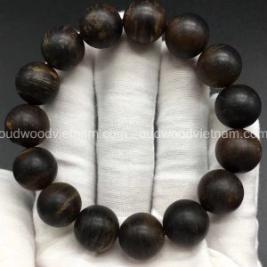 Vietnam agarwood Beaded Bracelet – Natural agarwood mala Beads Bracelet – Agarwood Meditation mala Beads – aloeswood Beads Bracelet – Tibetan mala Prayer Beads - agarwood Prayer Beads - Sinkable agarwood